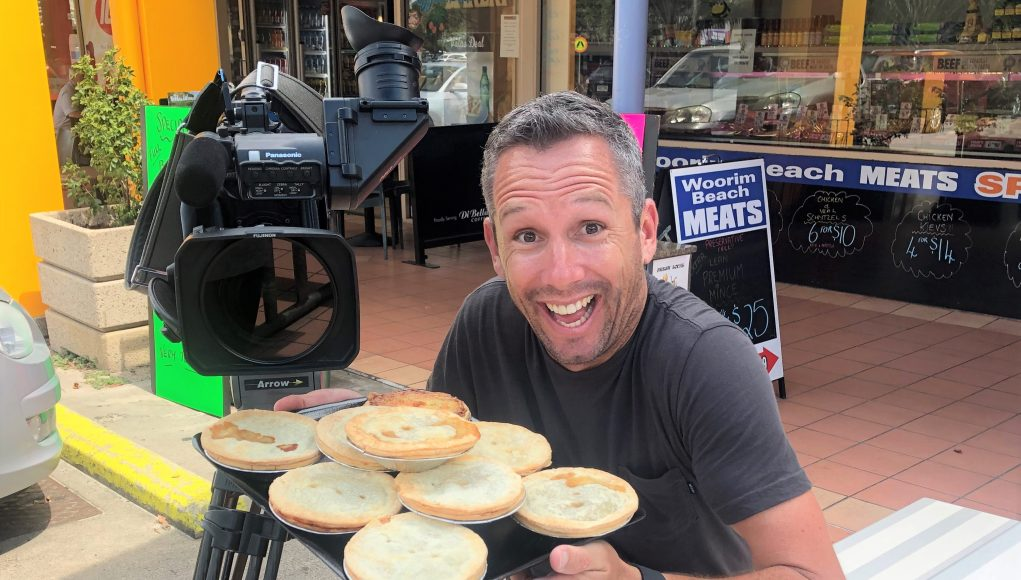 Jed Smith enjoying pies on Pi Day.